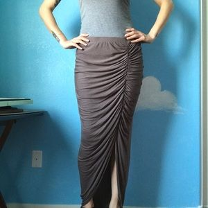 Tapered Maxi Skirt